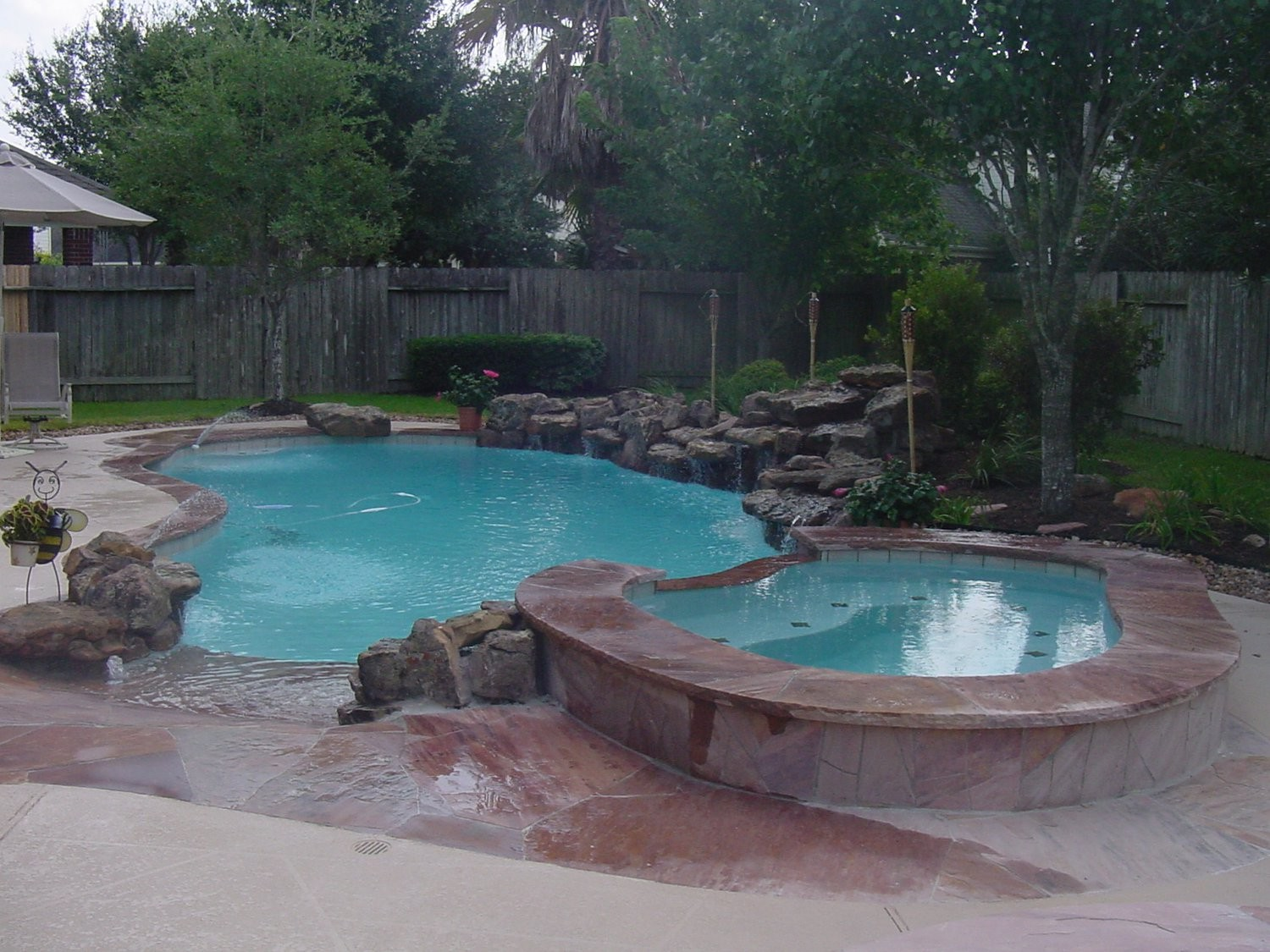100 cool pool designs pool design plans pool design for Pool design katy tx